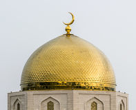 Golden Dome Mosque. Oriental style architecture. The golden dome of the mosque stock images