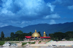 Golden dome in Myanmar country. Stock Photo