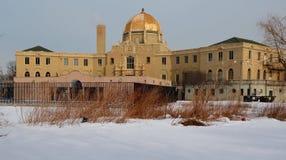 Golden Dome nella neve Immagine Stock Libera da Diritti