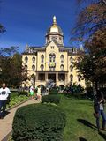 Golden Dome Notre Dame 免版税库存图片