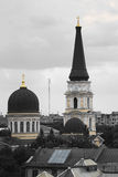 Golden dome of the Orthodox Cathedral Stock Photography