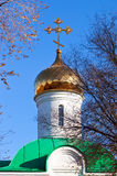 Golden dome of orthodox church. Stock Photography