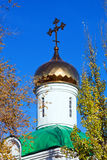 Golden dome of orthodox church. Royalty Free Stock Photos