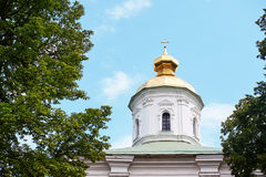 Golden Dome of the Orthodox Church against sky Stock Image