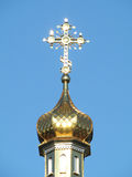 Golden dome of Orthodox church Royalty Free Stock Photos