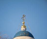 golden dome orthodox church Stock Photos