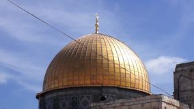 The golden Dome of the Rock stock footage