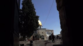 The golden Dome of the Rock stock video footage