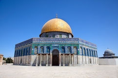 Golden Dome on the Rock Mosque Royalty Free Stock Images