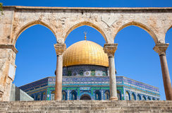 Golden Dome on the Rock Mosque in Jerusalem Royalty Free Stock Image