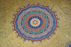 Golden Dome runt mozaic i Istanbul Arkivfoto
