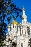 The Golden dome of the Russian Orthodox Church Royalty Free Stock Photos