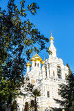 The Golden dome of the Russian Orthodox Church Stock Photo