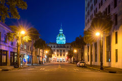 The golden dome of the Savannah City Hall in Savannah Stock Images