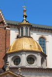 Golden Dome of the Sigismund Chapel Stock Images