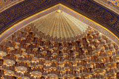Golden dome of Tilya Kori Madrasah Stock Photo
