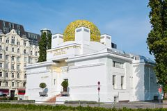 Golden dome of Vienna Secession building royalty free stock photo