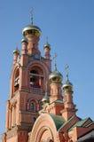 Golden Domed Bell Tower. Kiev, Ukraine Stock Photos