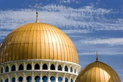 Golden domed mosque Stock Images
