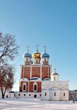 Golden domes of  ancient Kremlin Stock Image