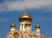 Free Golden Domes And Crosses Orthodox Cathedral. Stock Photos - 27001163