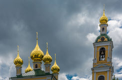 Golden domes. Stock Photos