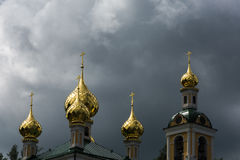 Golden domes. Stock Photography
