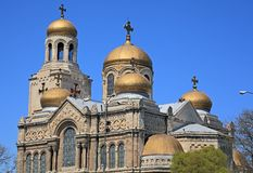The golden domes of the Cathedral Stock Image