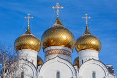Golden domes of the Cathedral of the Assumption of Our Lady, Yar Stock Image
