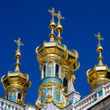 Golden domes of catherine's palace Stock Photos