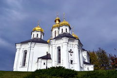 Golden domes of Christian church Royalty Free Stock Images