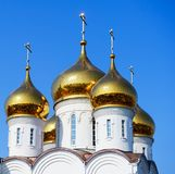 Golden domes of the Church Royalty Free Stock Photo