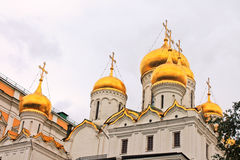 Golden domes, Church in Moscow. Golden domes Church in Moscow, Russia Royalty Free Stock Photo