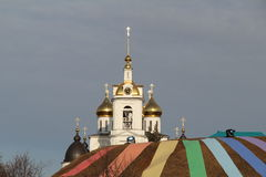 Golden domes of the Church Stock Images