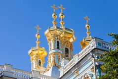 Golden domes of the Church of the Resurrection of Christ Royalty Free Stock Photo