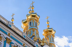 Golden domes of the Church of the Resurrection of Christ Stock Images