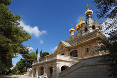 Golden domes and creamy walls Royalty Free Stock Image