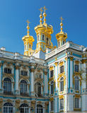 Golden domes with crosses of catherine's palace in tsarkoie selo Royalty Free Stock Photography