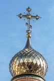 Golden domes and crosses of the Orthodox Church. Royalty Free Stock Photography