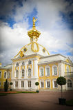 Golden domes. Golden dome of St. Petersburg in the sun shine Stock Image