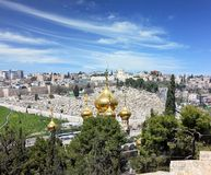 Golden domes of Jerusalem Stock Images