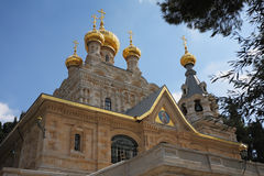 Golden domes and Jerusalem stone walls Royalty Free Stock Photos