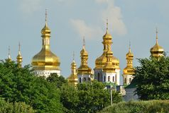 Golden domes Stock Images