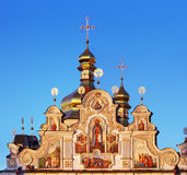 Golden domes of Kiev Pechersk Lavra Royalty Free Stock Photos