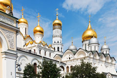Golden domes of Moscow Kremlin Cathedrals Stock Image