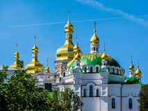 Golden domes of the Mother of God Assumption church in Kiev, Ukraine Stock Photo