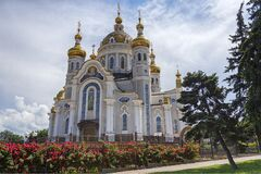 Free Golden Domes Of The Orthodox Church. Donetsk Stock Images - 174610614