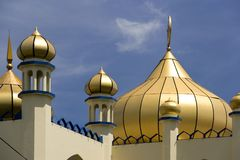 Golden domes on old mosque Royalty Free Stock Images