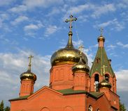 Golden domes of orthodox church Stock Images