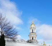 Domes of the Pechersk Lavra in Kiev stock photography